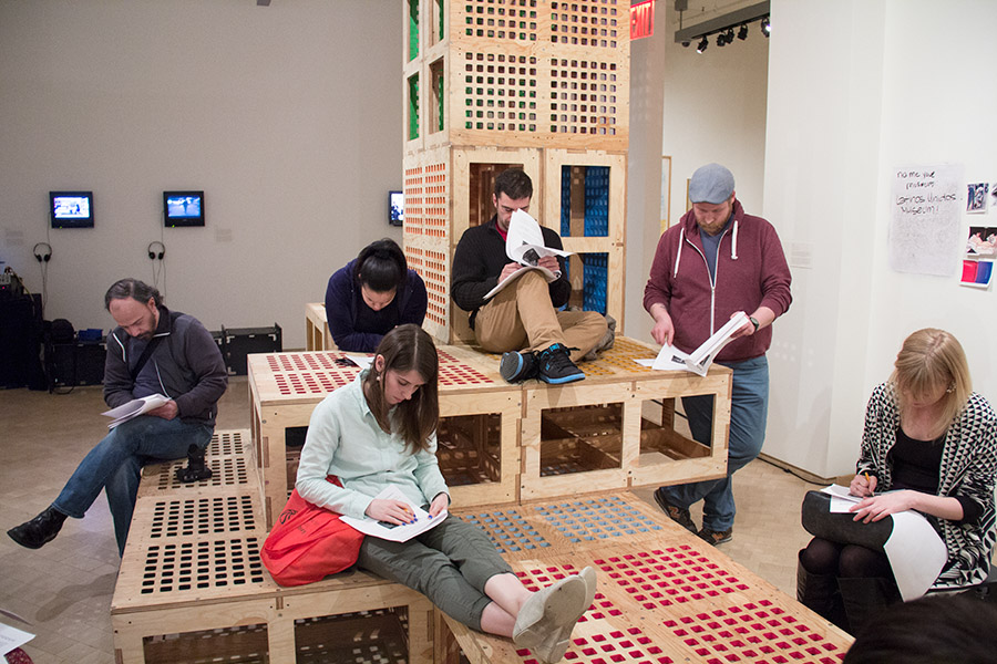 Source Material    BroLab is doing a series of workshops at El Museo del Barrio as part of the  Museum Starter Kit exhibition . 6:30-8:30pm each night.   APR 16:    Introductions   MAY 14:    Modularity & Collaboration   JUN 18:    Field of Play