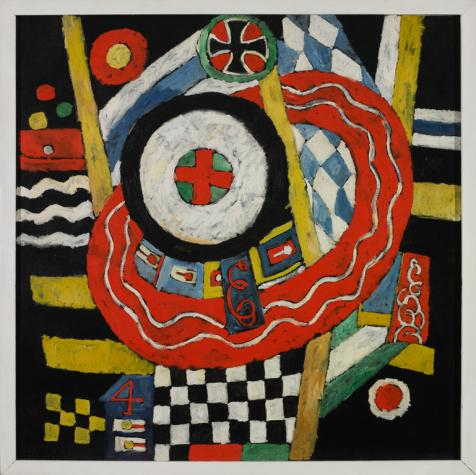 Marsden Hartley,  The Iron Cross , 1915, Kemper Art Museum, Washington University in St. Louis, St. Louis, MO