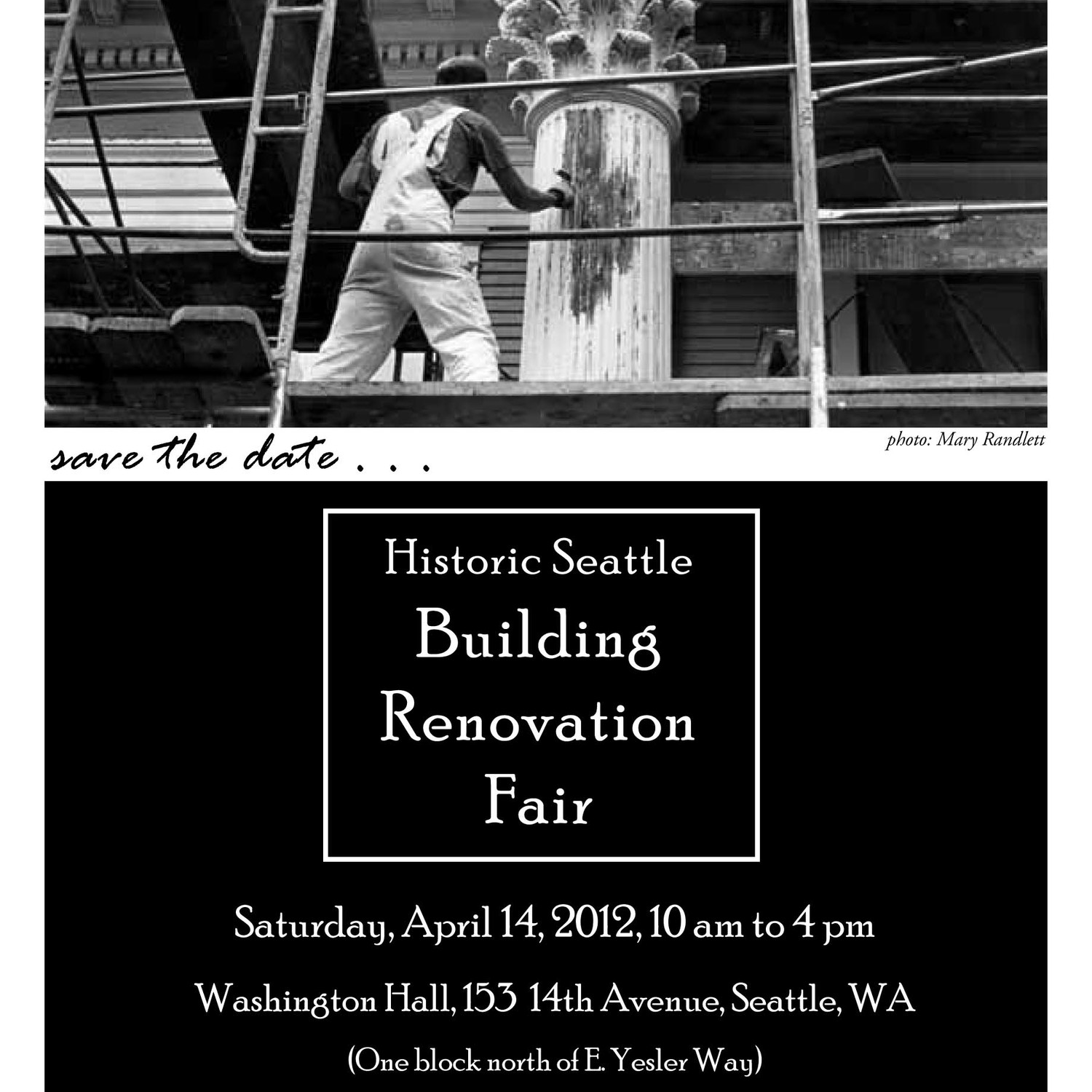 Find us at the Historic Seattle Building Renovation Fair on April 14, 2012