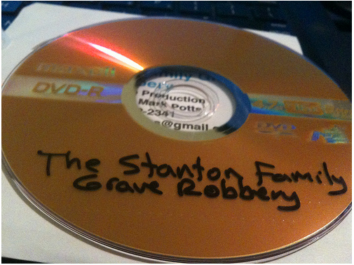 DVD submission with sharpie labeling