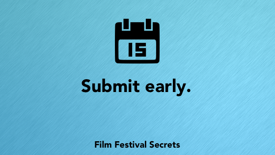 Submit early.
