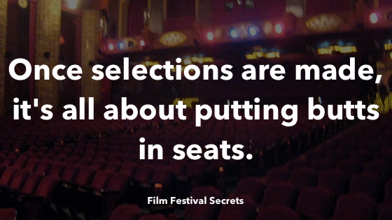 Once selections are made, it's all about putting butts in seats