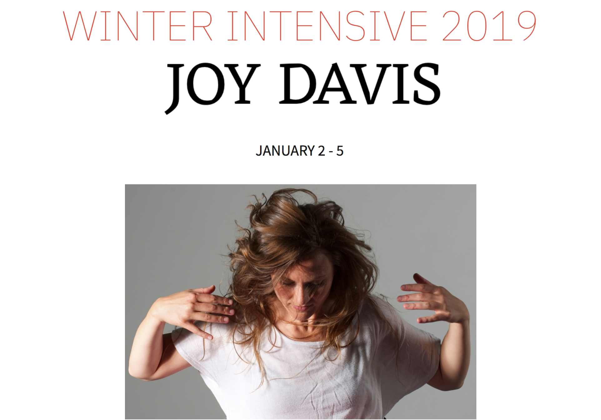 Copy of WINTER INTENSIVE  |  January 2 - 5, 2019