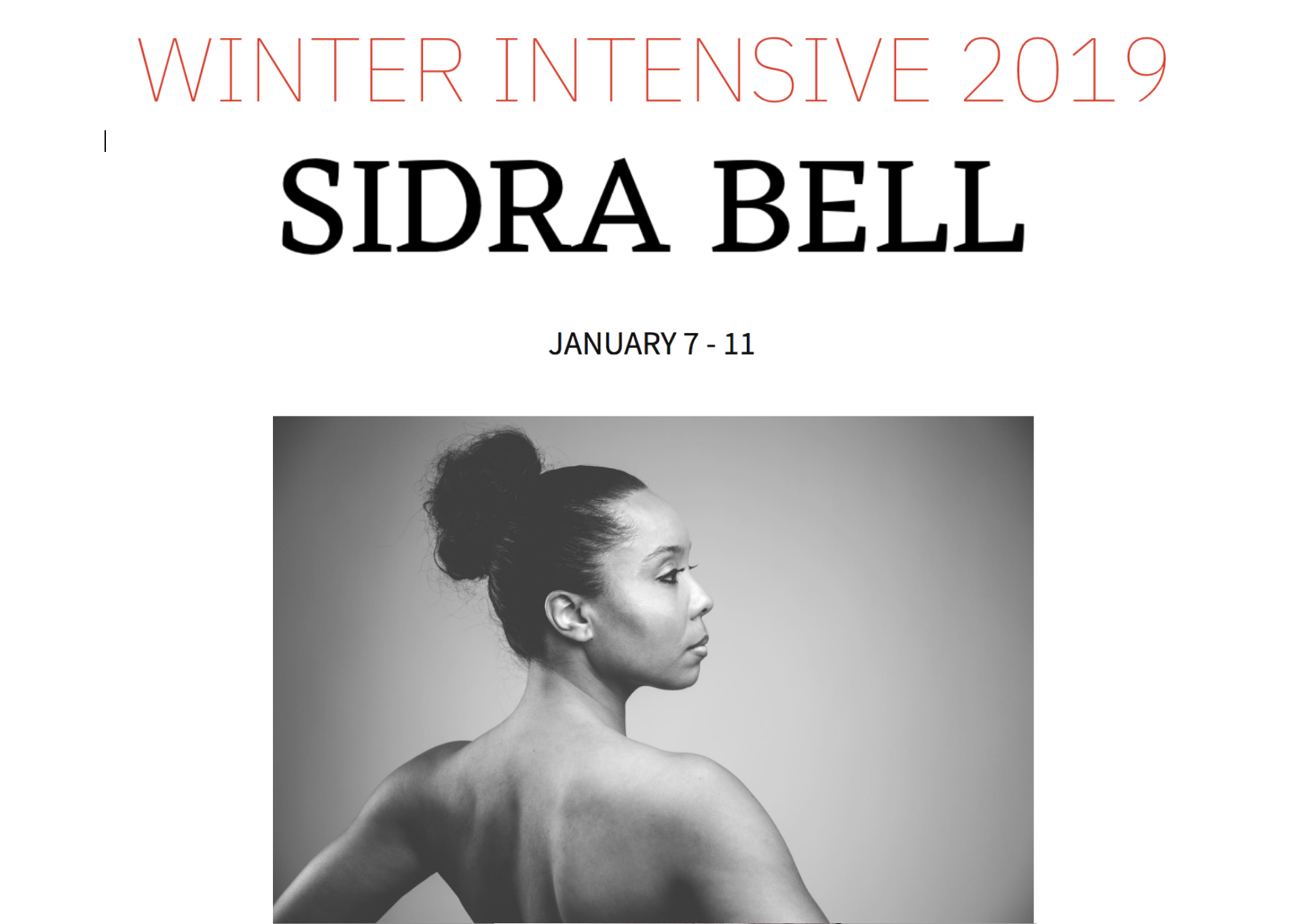 Copy of WINTER INTENSIVE  |  January 7 -  11, 2019