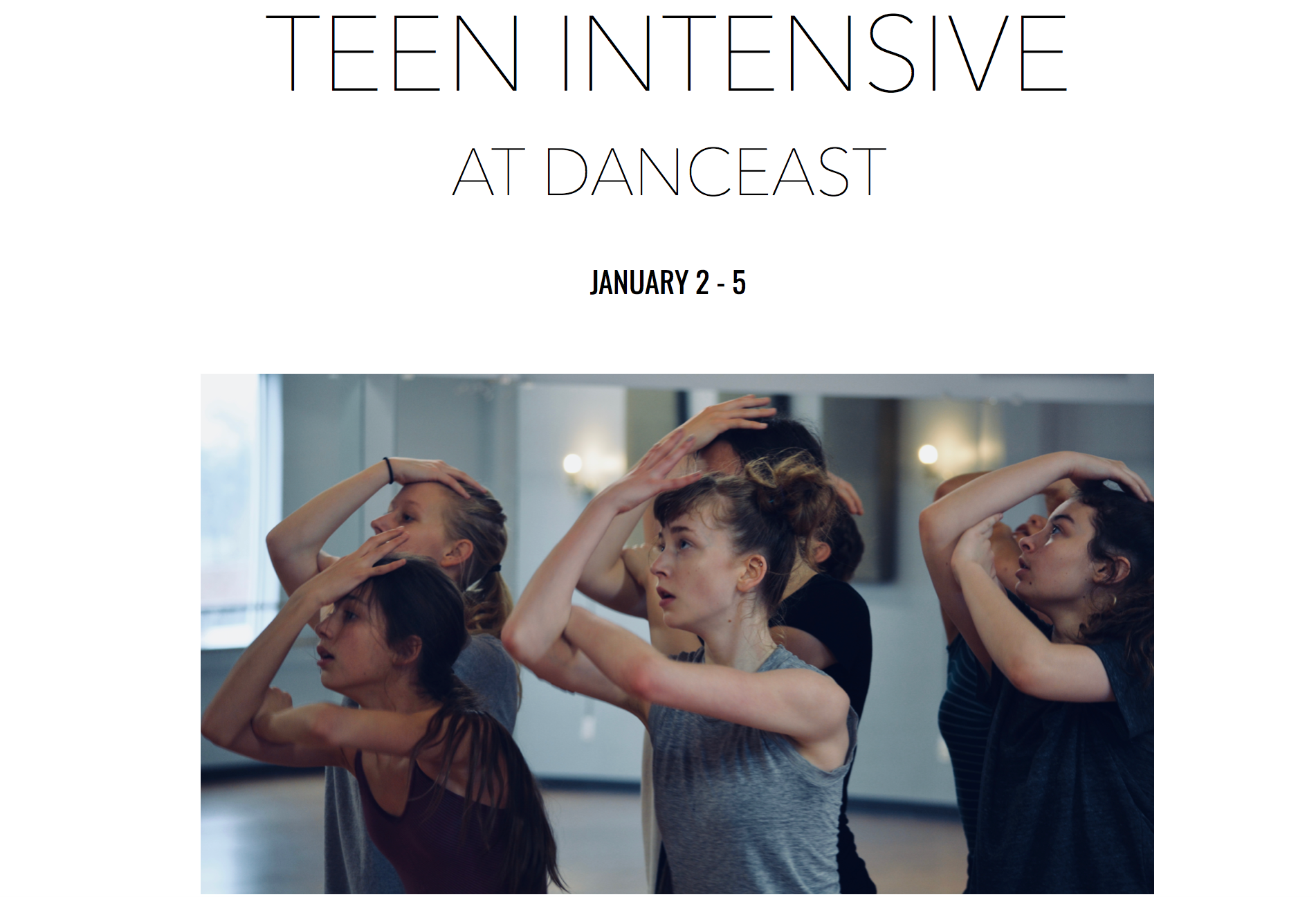 Copy of Teen Intensive  |  January 2 - 5, 2019
