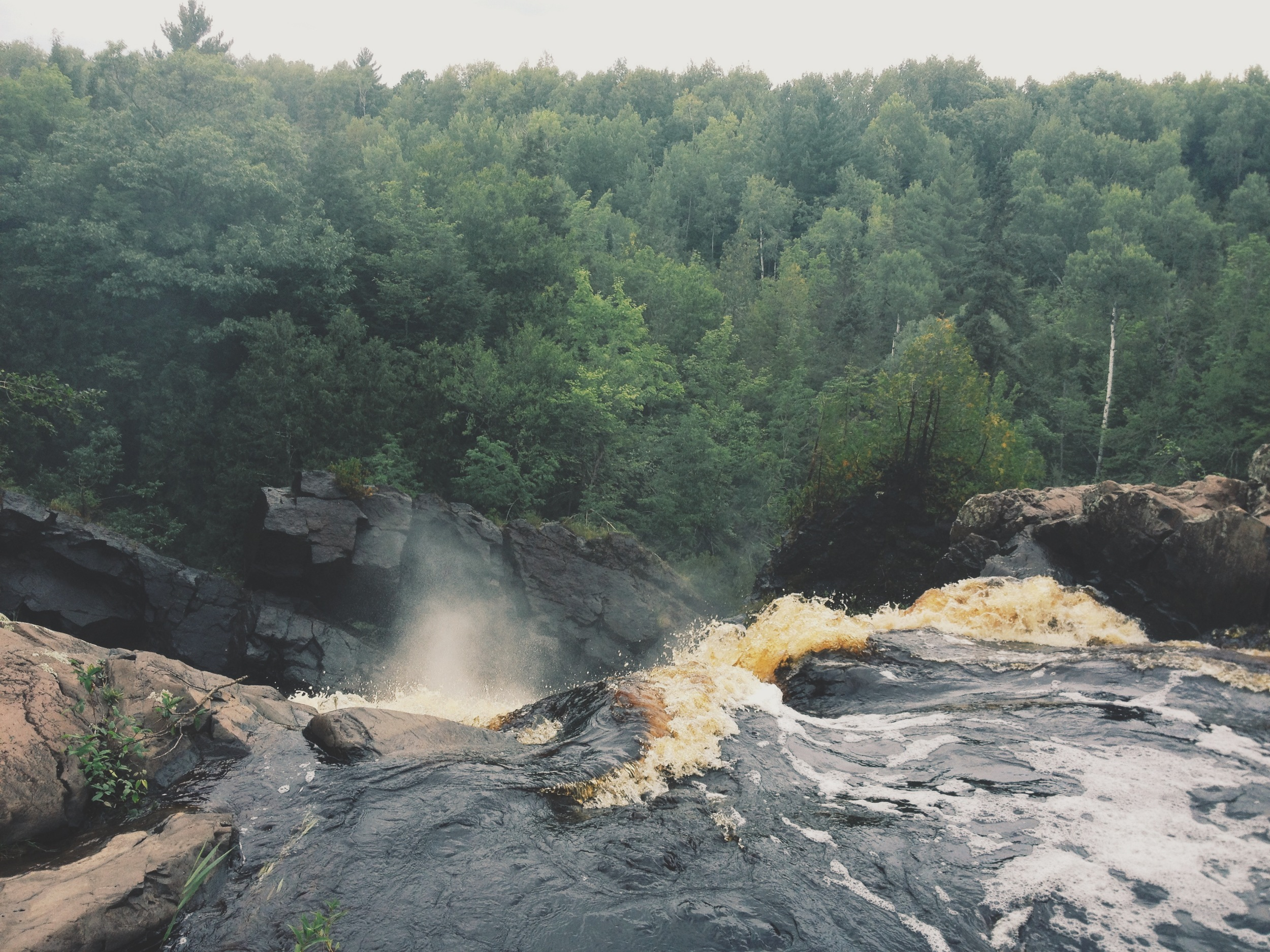 from the top of the waterfall. (iPhone photo)