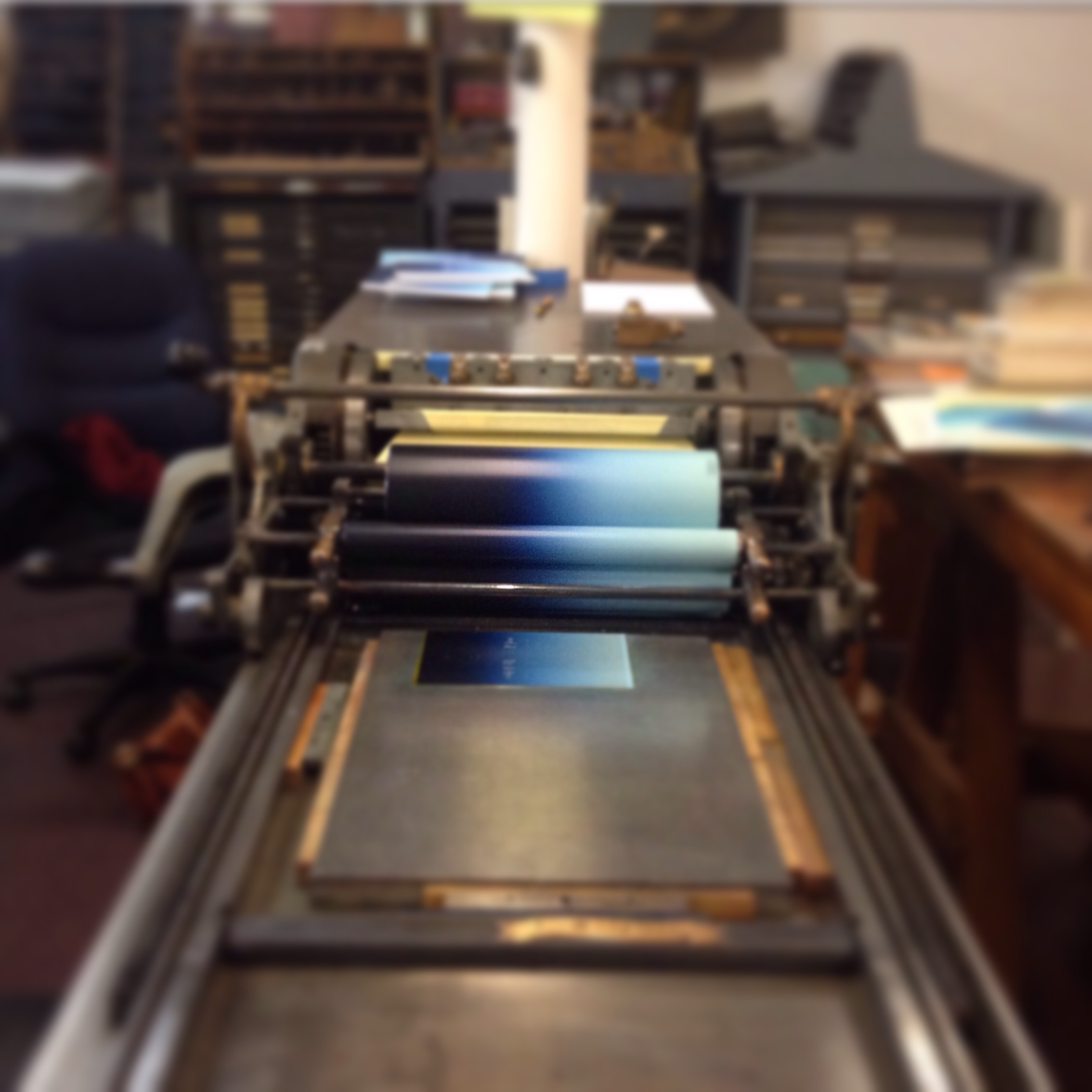 Quill and Arrow : Printing Press Vandercook 4 Letterpress