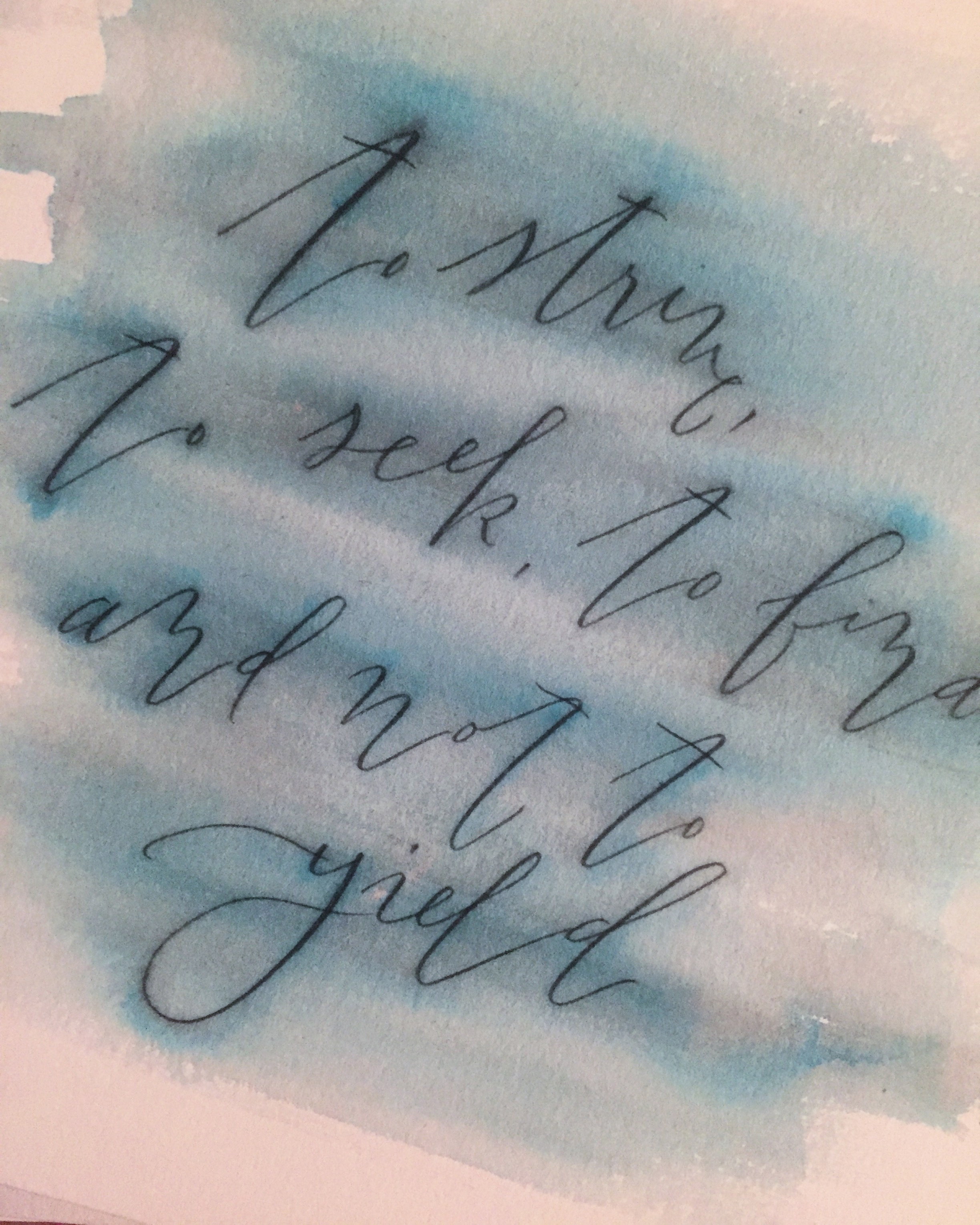 Quill and Arrow : Calligraphy Blue Blur
