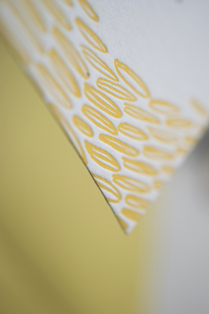 Seth & Elizabeth: Letterpress printed wedding invitation, detail. Designed at 7 Ton Co.