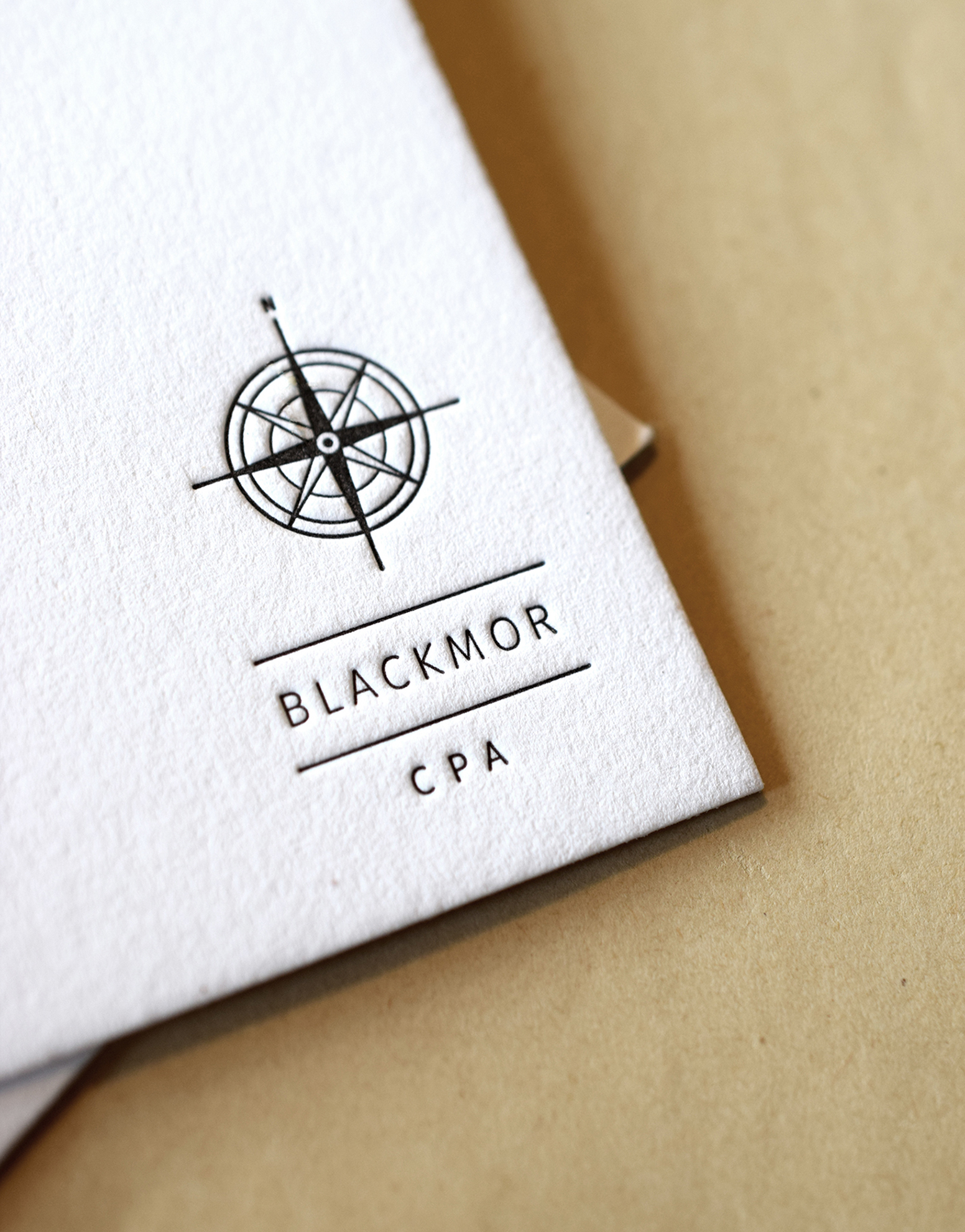 Blackmor CPA Stationery : Designed at 7 Ton Co. :Lettepress Printed