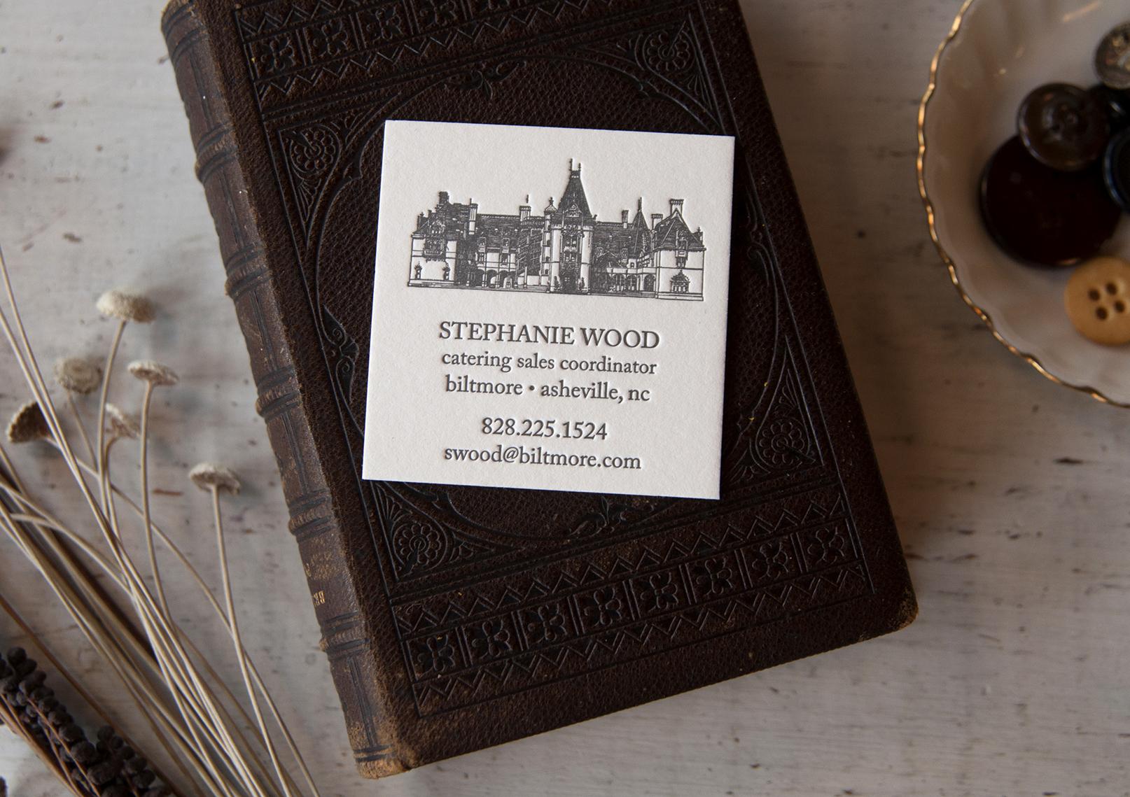 Biltmore Catering Business Cards : Letterpress Printed