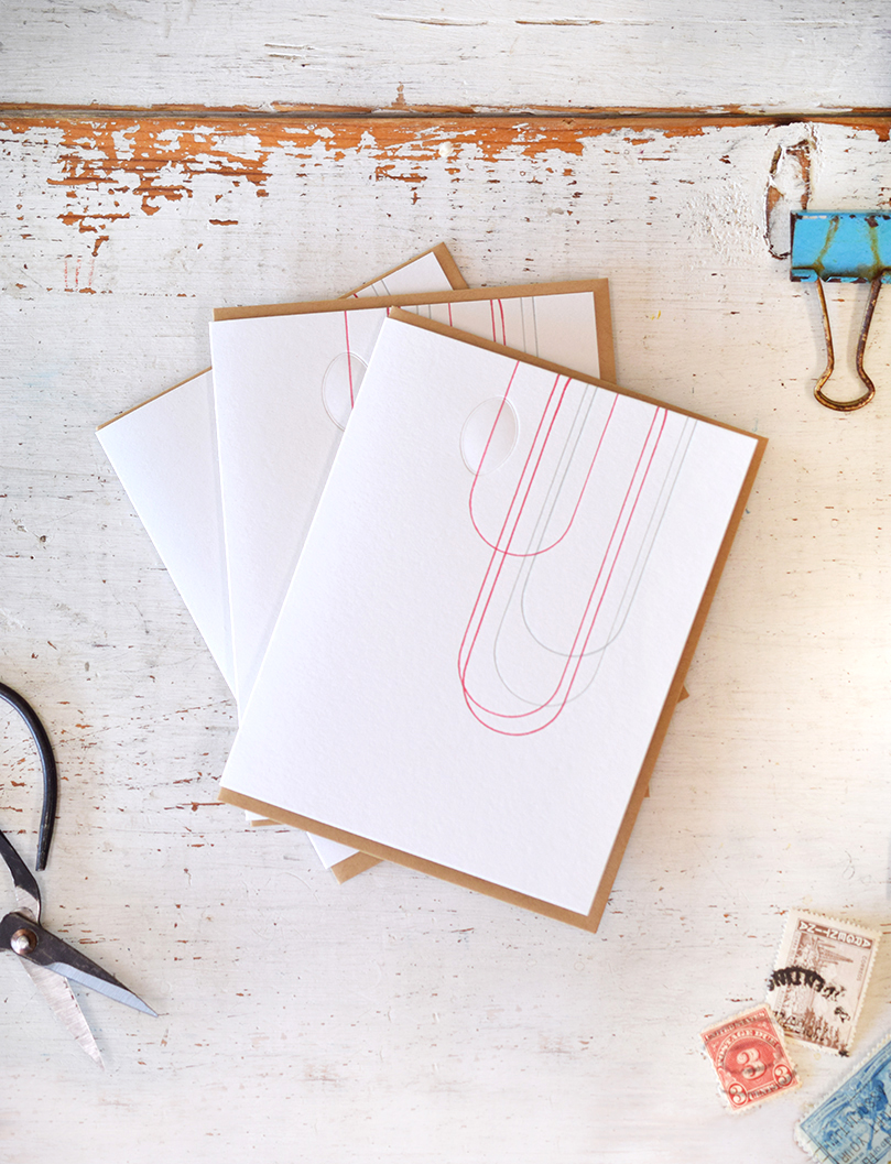 Loop Notecard:Letterpress Printed