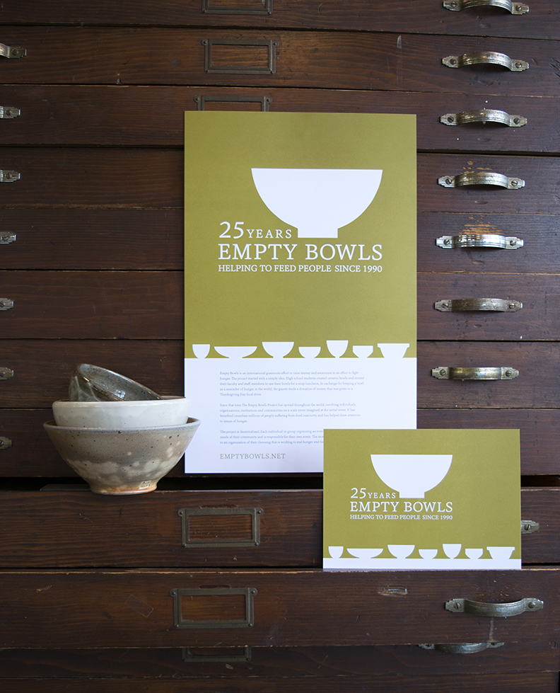 Empty Bowls 25th Anniversary logo and collateral, designed at 7 Ton Co.
