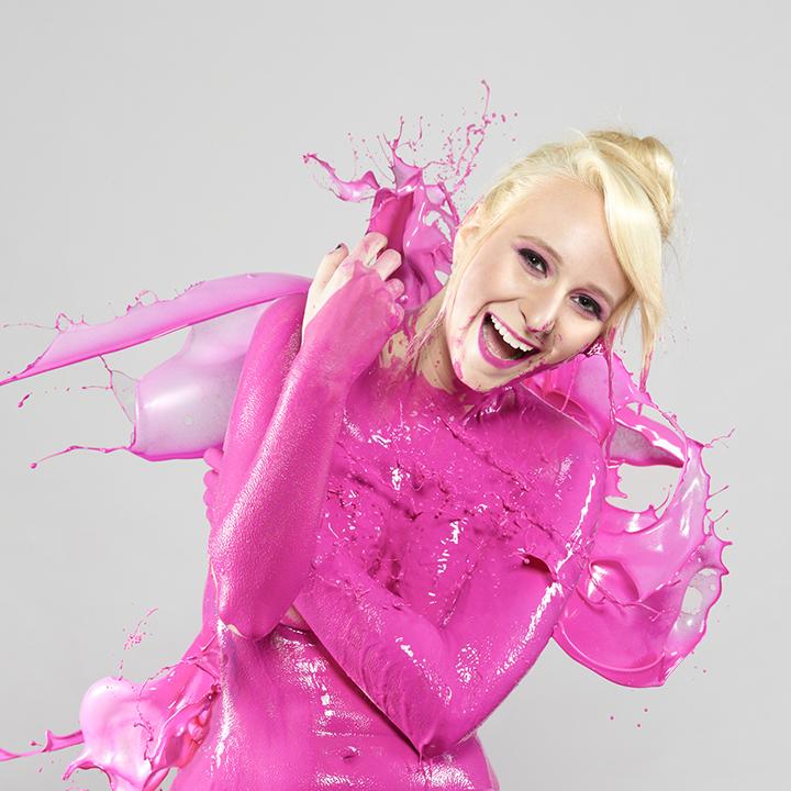 """Splash of Color: Pink""  Model: Bethany Bartkus  MUA:  Michelle Daniel"