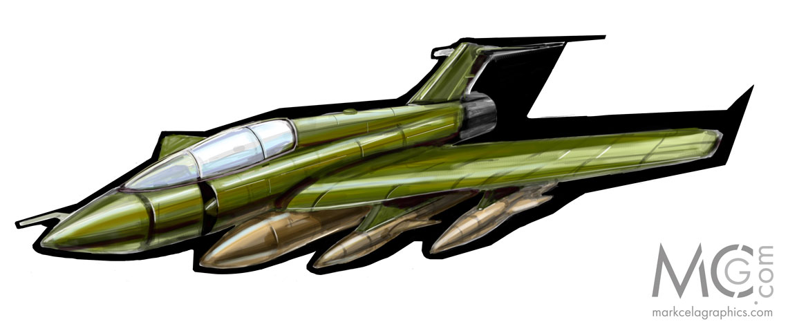 A quick jet fighter concept.