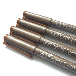 Copic Sepia Multiliner Pens