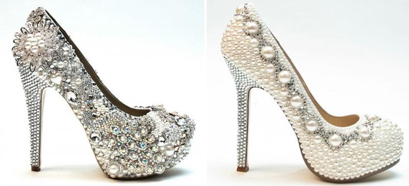 handmade crystal embellished wedding shoes fromwww.tiffanychimere.com