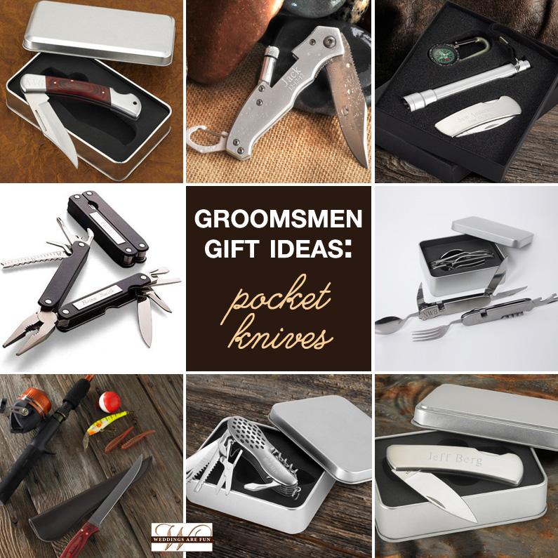 groomsmen gift ideas - pocket knives