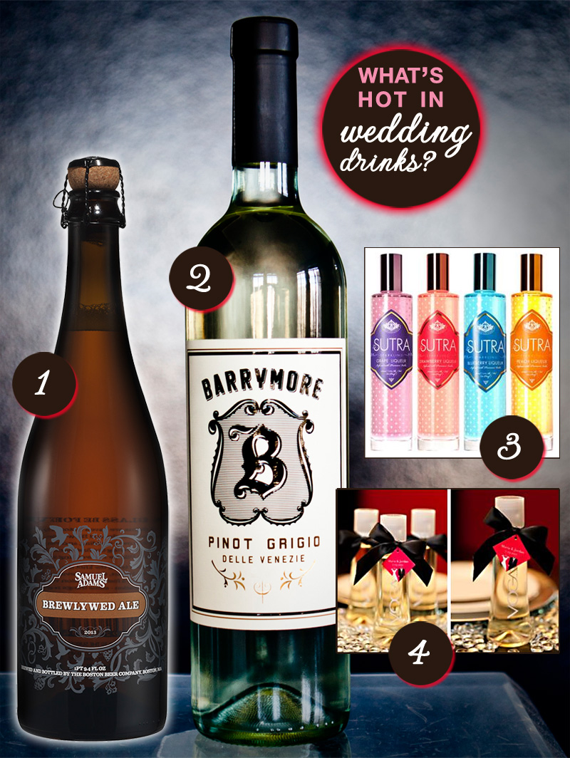 wedding drinks - wine beer and liqueur