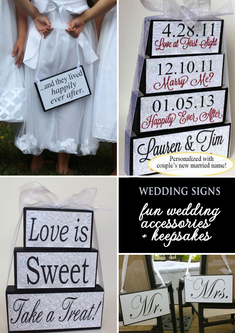 cute wooden wedding signs