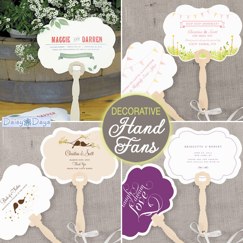personalized decorative wedding hand fans