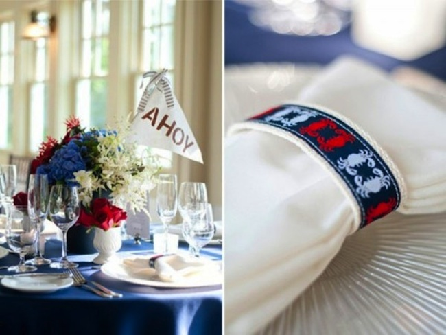 """""""Ahoy"""" banner in flowers 