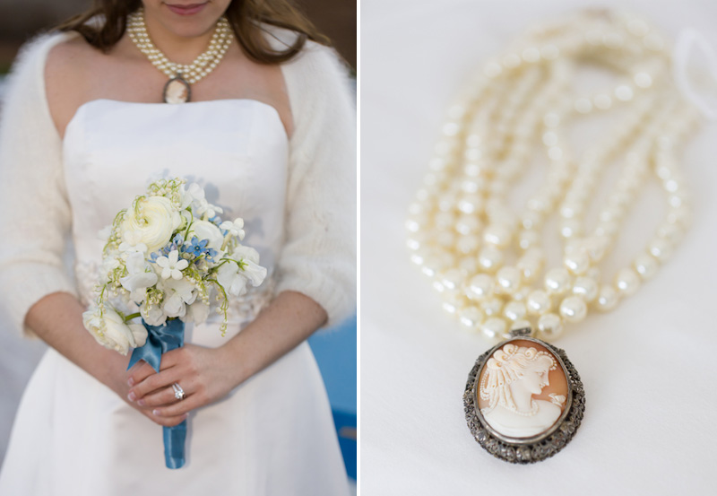 cape cod wedding - grandmother's cameo necklace