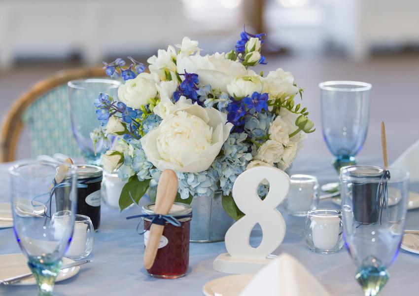 cape cod wedding table setting