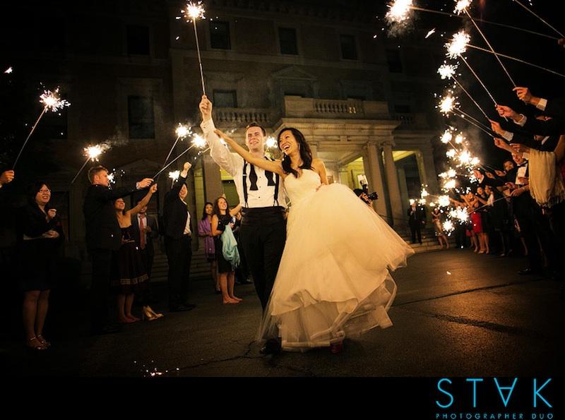sparkler wedding send-off