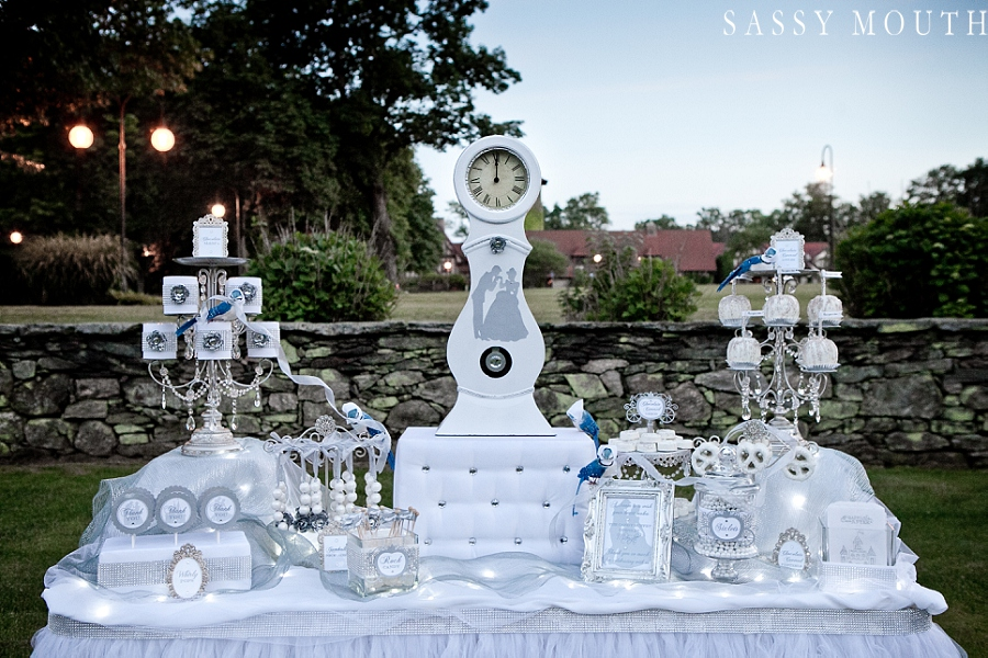 white and silver dessert table | from #Cinderella inspired #wedding photo shoot | photo by @sassymouthphoto