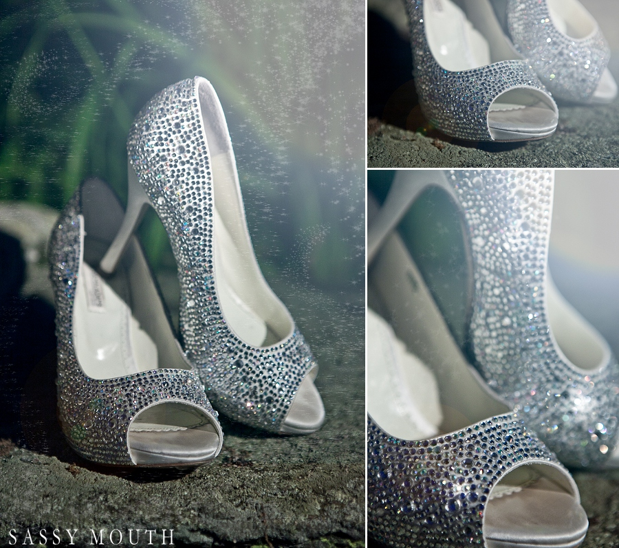 Stunning Bridal Shoes | from #Cinderella inspired #wedding photo shoot | photo by @sassymouthphoto