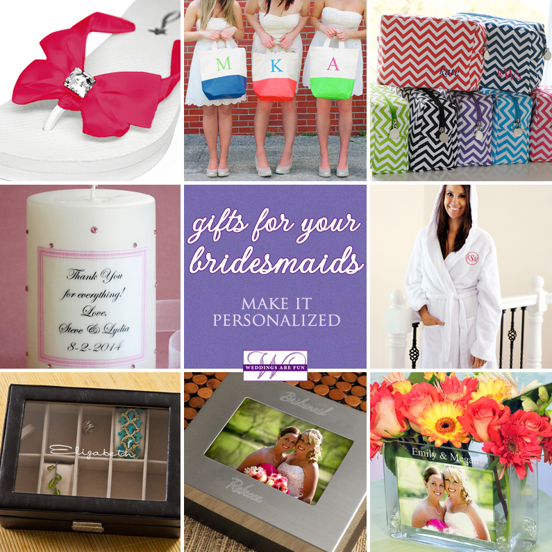 Bridesmaids Gifts - making it personalized