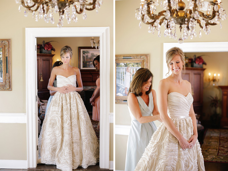 bride getting ready in her gorgeous wedding dress| photo by www.annabellacharles.com