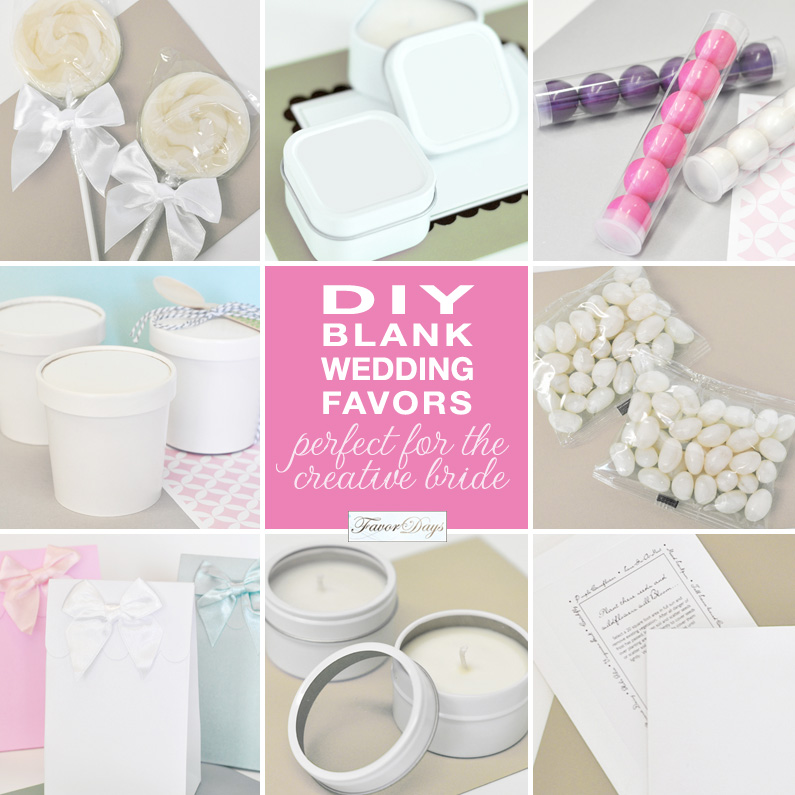 DIY blank wedding favors : perfect for the creative bride