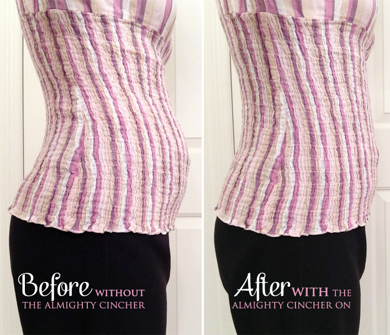 Look immediately slimmer with The Almighty Cincher from AMIA {a corset with a PowerLatex Core}