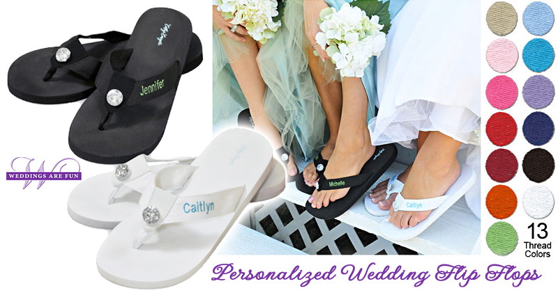 Personalized #Wedding #Flip #Flops : the comfortable bridesmaid gift