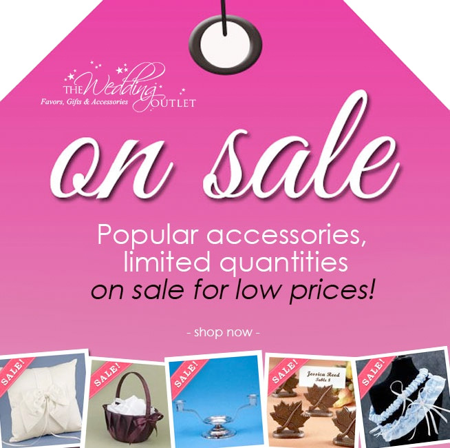 Popular Wedding Accessories on sale - up to 40 percent off {limited quantities}