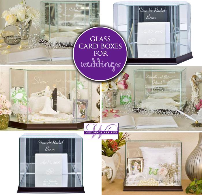 glass wedding card box holders