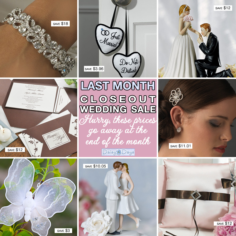 Daisy Days closeout wedding sale {Ends October 31, 2013}