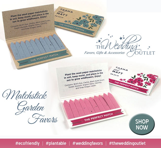 Matchstick Garden Wedding Favors