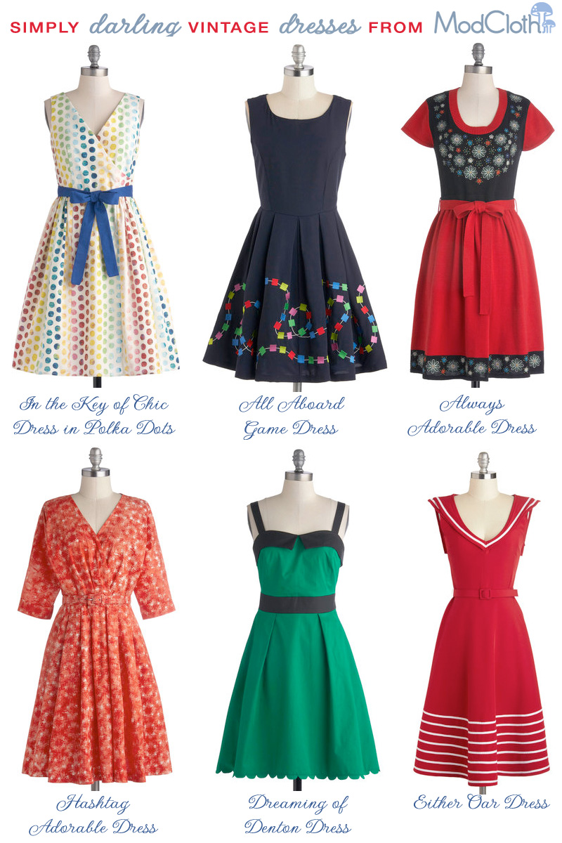 simply darling #vintage #dresses from ModCloth