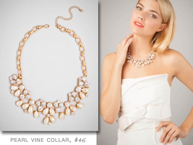 BaubleBar #Pearl Vine Collar #Necklace | #Bridal #Jewelry