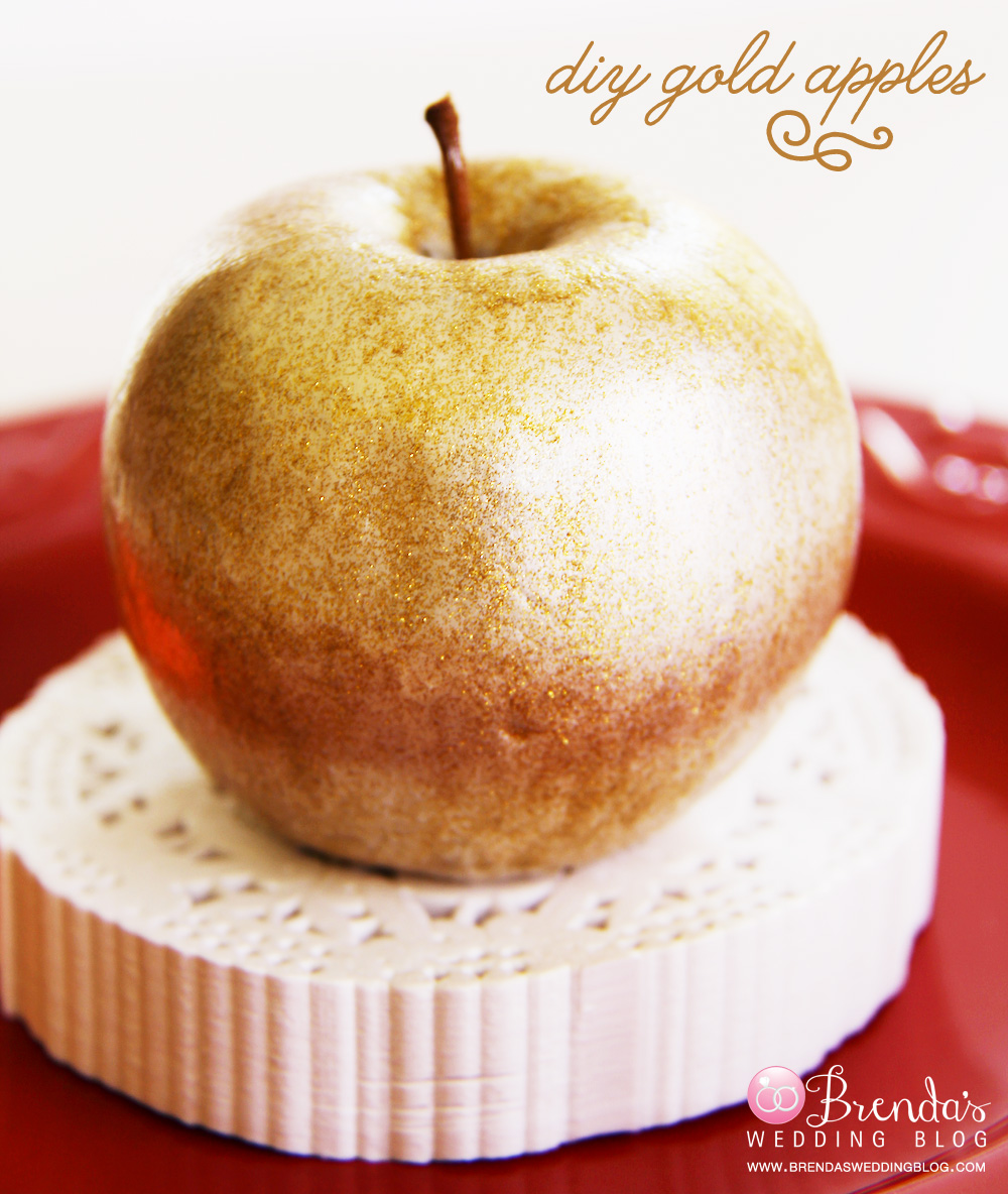DIY Gold Apples : easy peasy glitter project with paints only