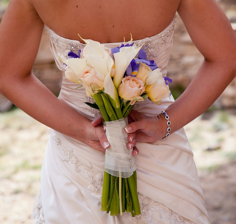 Beautiful Rose and Iris Bouquet from Chelsea of Ad Finem Flores | www.adfinemflores.com