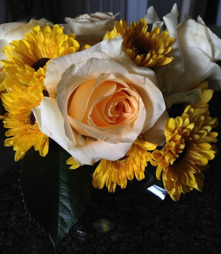 Sunflower Rose Bouquet by Chelsea of Ad Finem Flores | www.adfinemflores.com