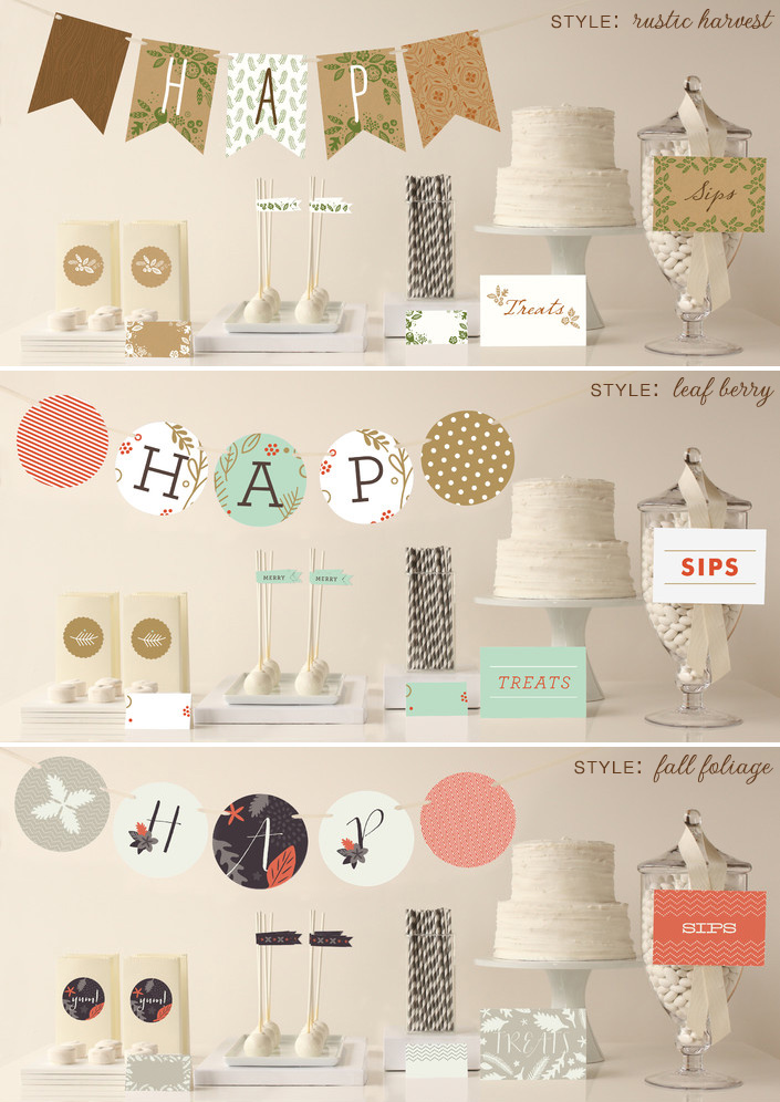 Fall decor party packages from Minted