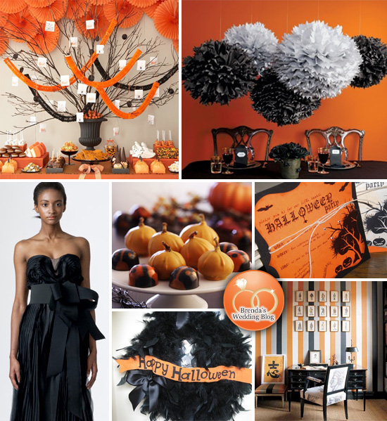 Halloween Inspired Wedding with Feathers and Pom Poms