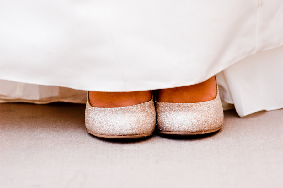pretty silver flats from an Indian Fusion styled shoot | photo by Dreamcicle Studios