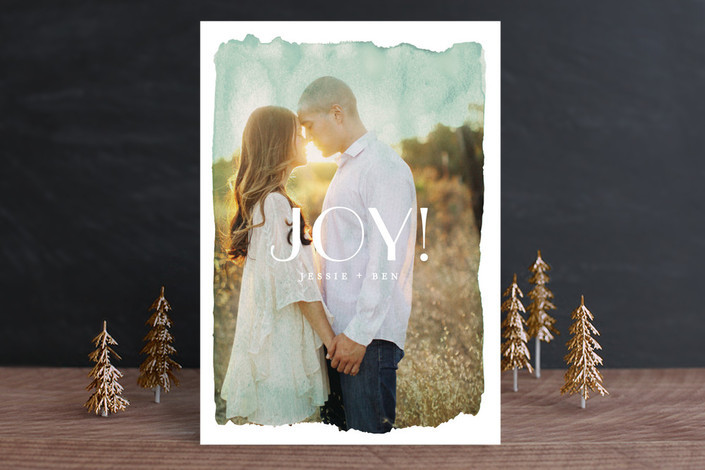 Aquarelle No 2 Holiday Card from Minted