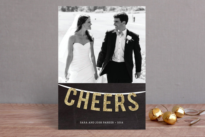 Cheers Garland Holiday Card from Minted